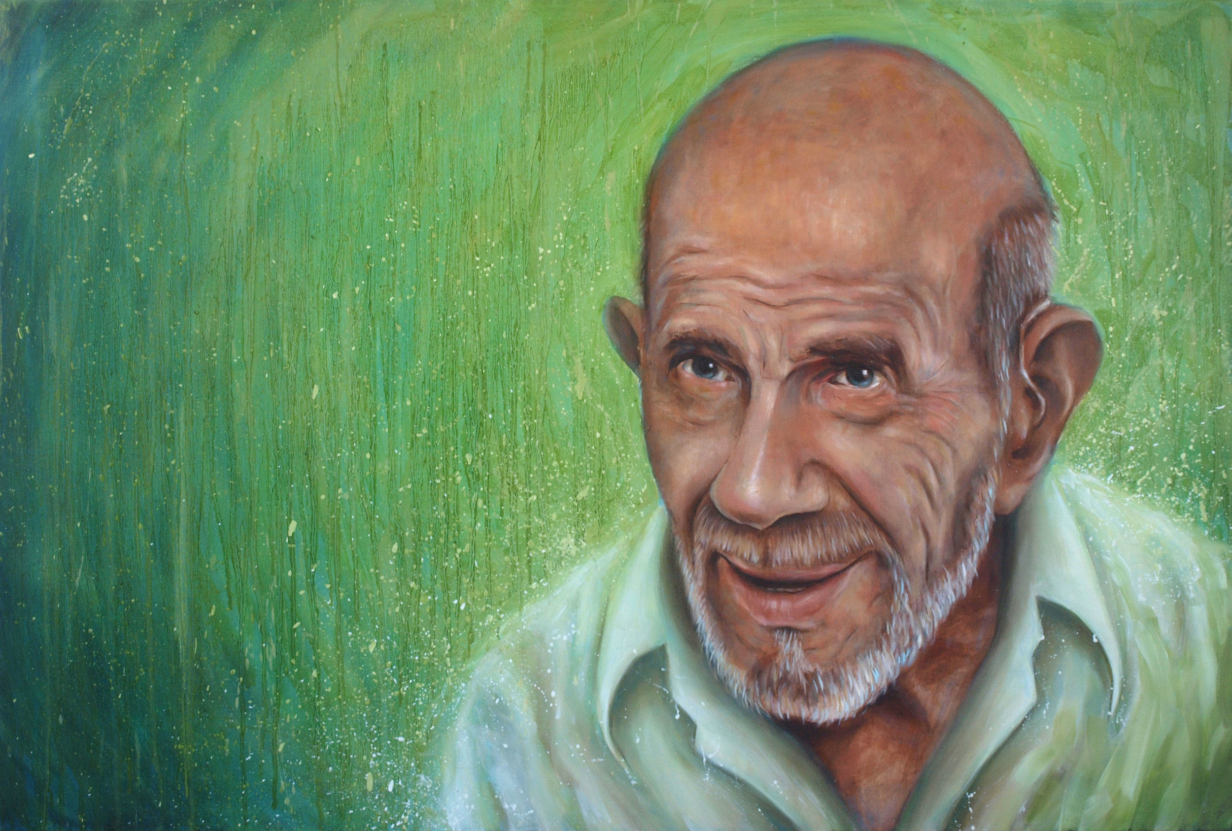 'Jacque Fresco' Oil on Canvas (90 x 140cm)