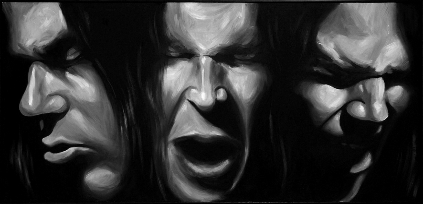 'Dr. Shakes' Oil on Board (60 x 130cm)