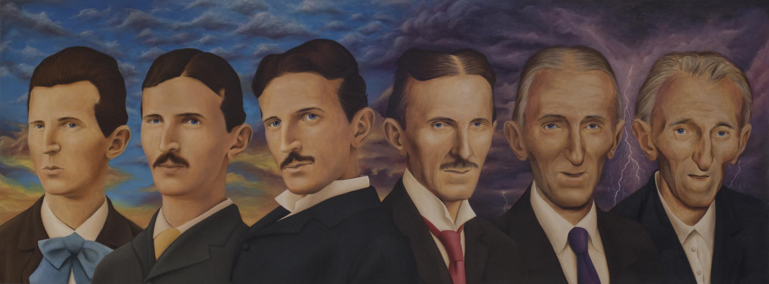 'Master of Lightning' Oil on Canvas (110 x 300cm)