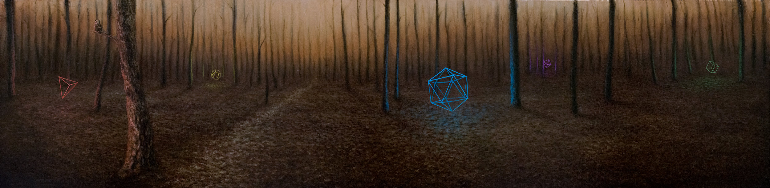 Forest (160 x 40cm) Oil on Canvas