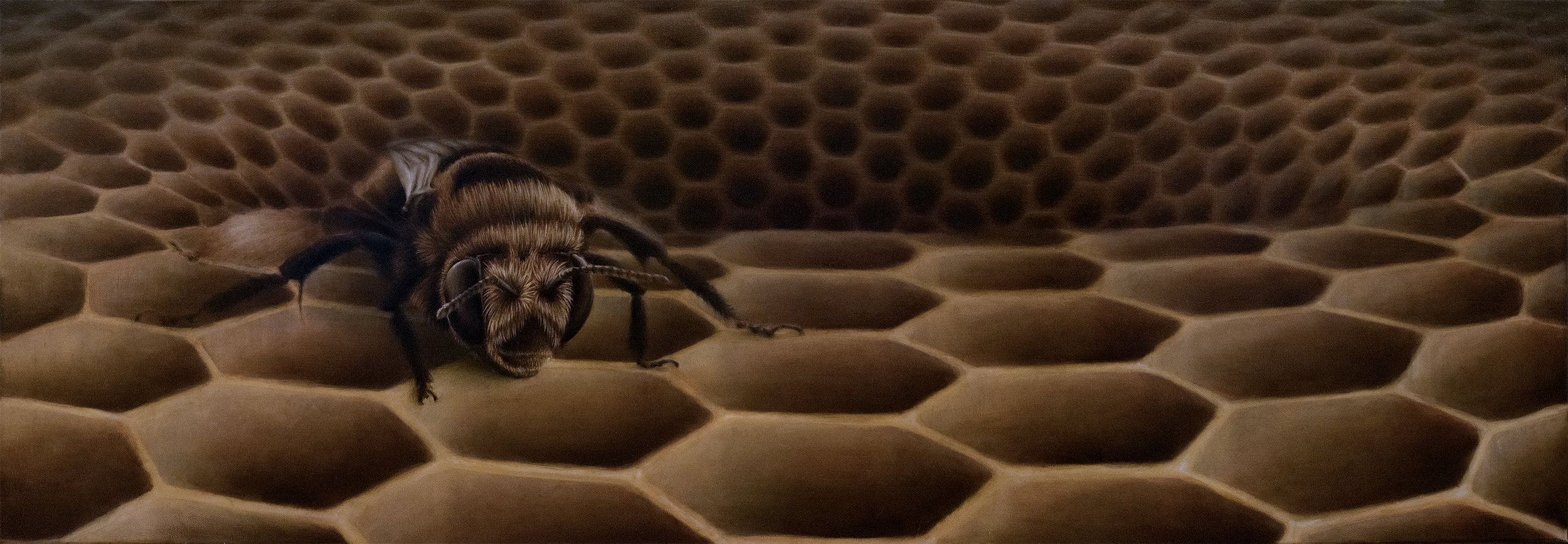 The Last Bee (140 x 60cm) Oil on Canvas