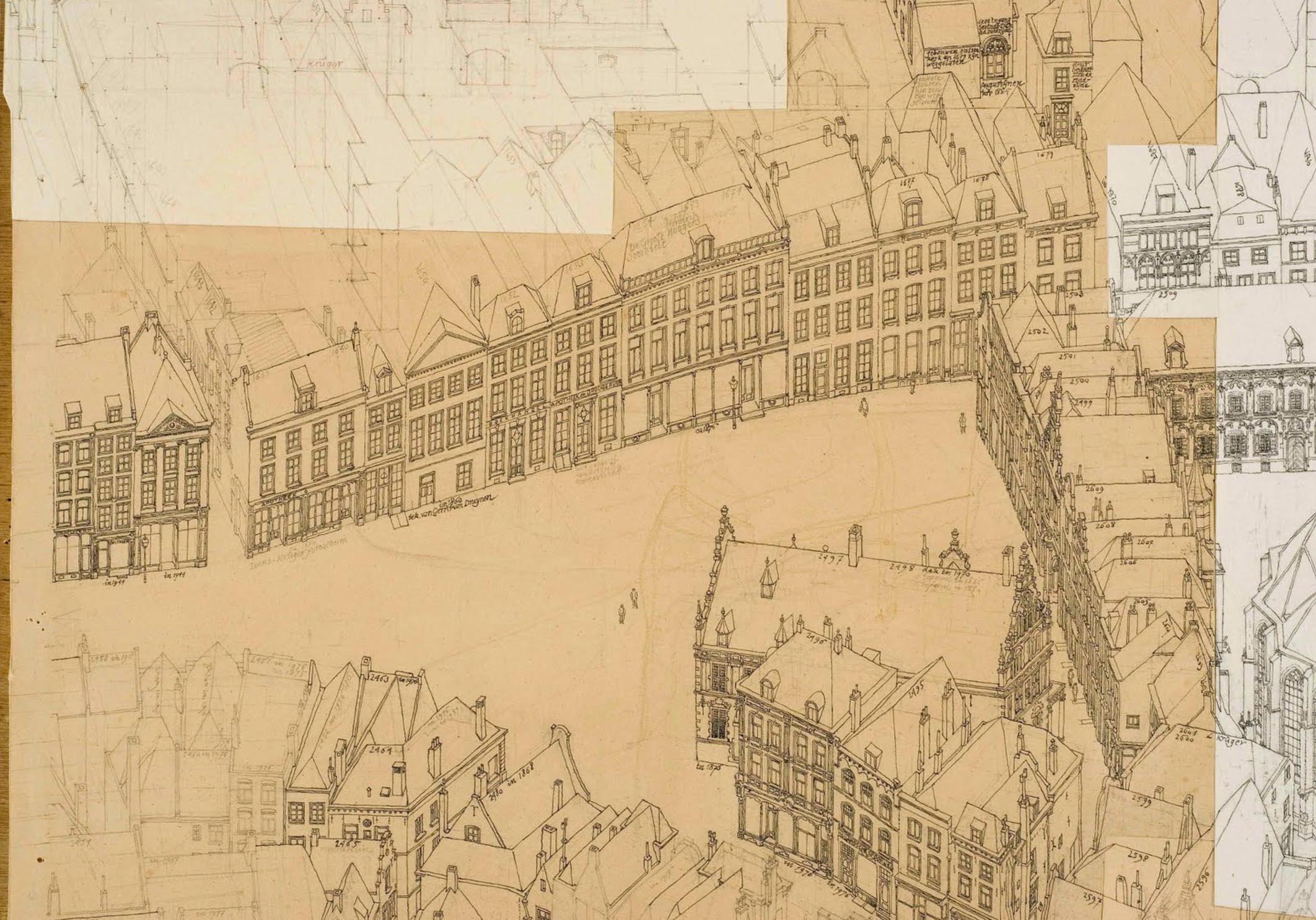 Detail Vogelvlucht van Nijmegen 1876-1910
