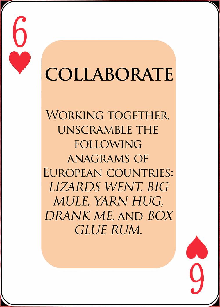 A Sample COLLABORATE Card