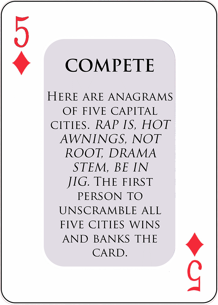 A Sample COMPETE Card