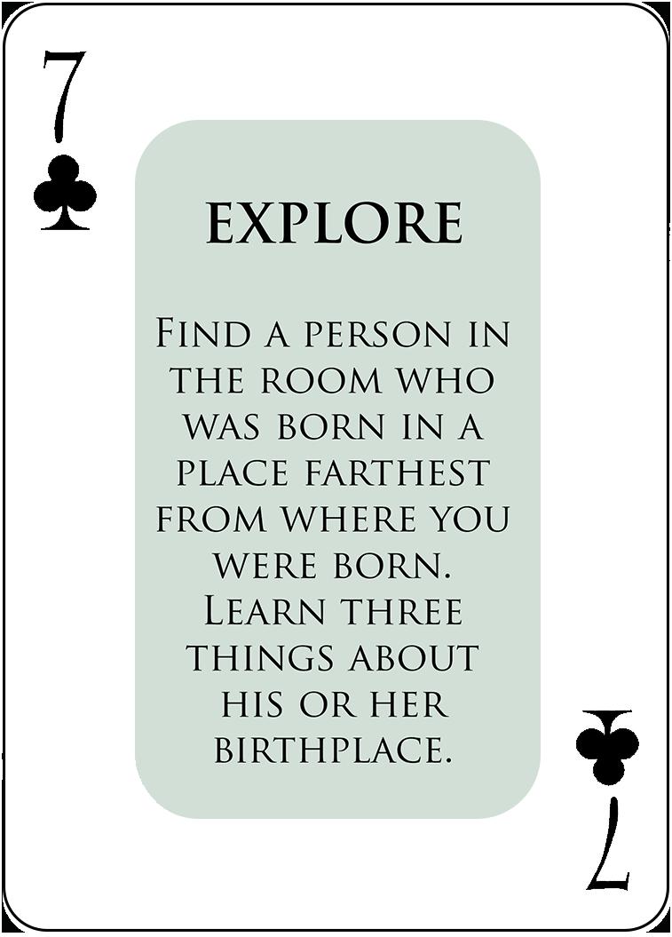 A Sample EXPLORE Card