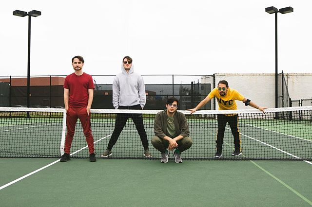 Throwback to the tennis court with @hrtheband who just announced their album Champagne on vinyl. ❤️