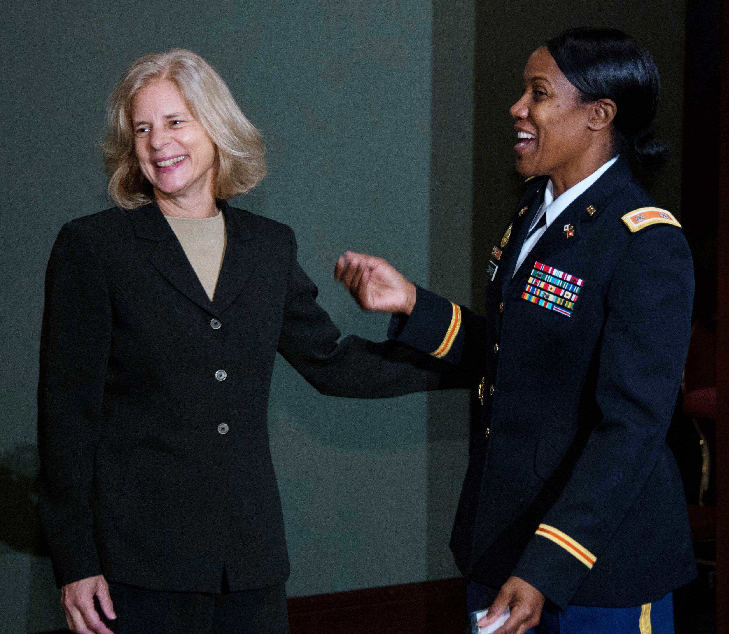 Brigadier General (ret) Marianne Watson, American Jobs for America's Heroes and LTC Shawn Edwards, National Guard Bureau