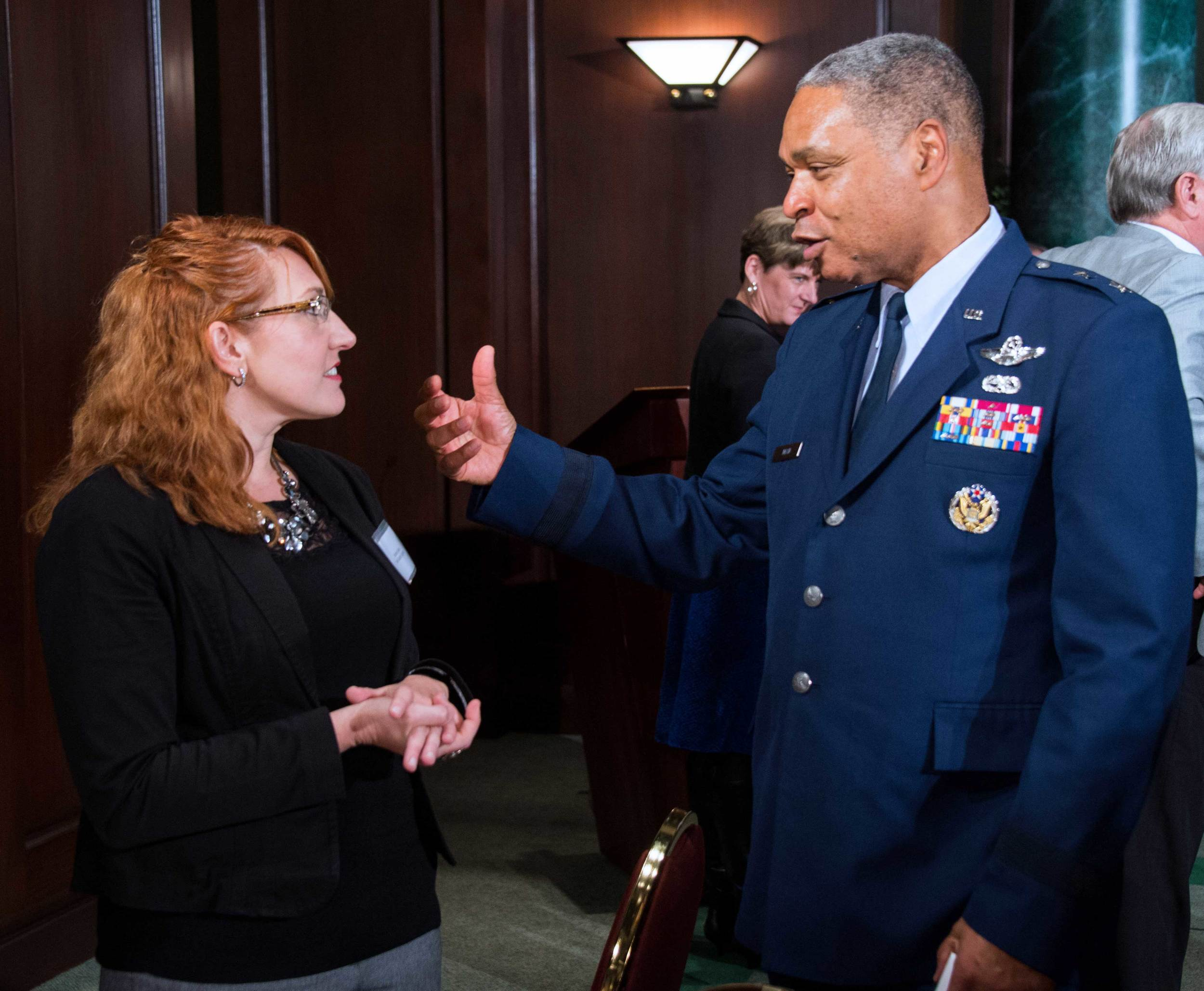 Kristine Glenn, Total Quality Logistics and Major General Garry Dean, National Guard Bureau