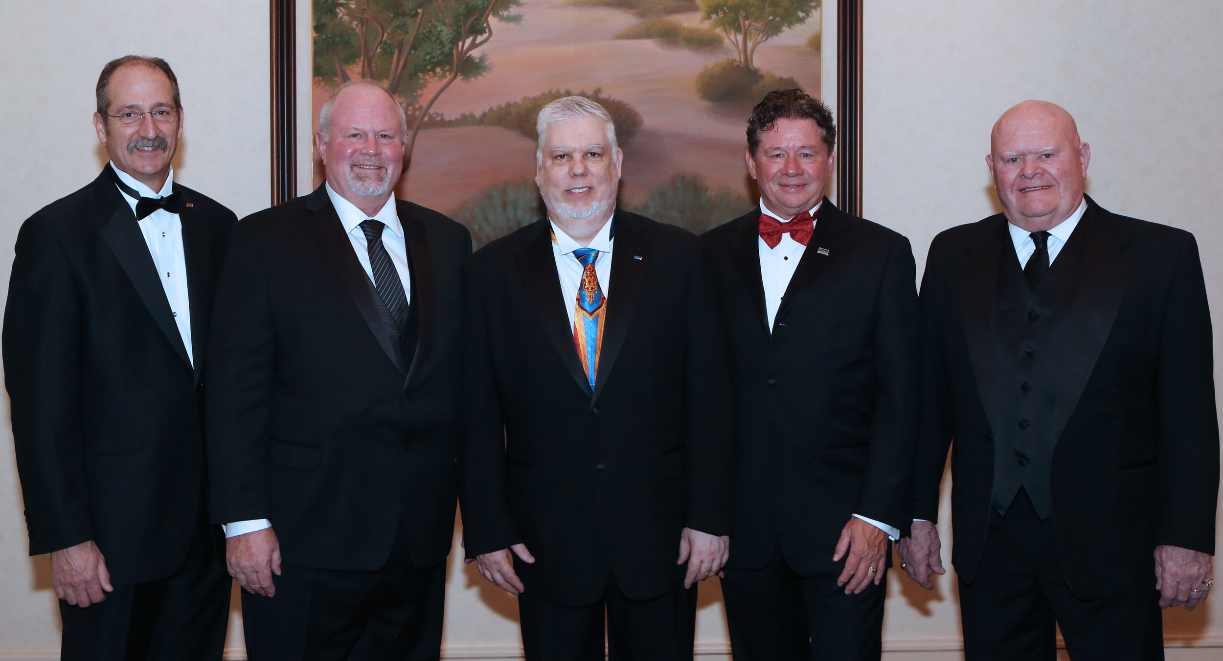 NTMA Officers (L-R): Robert Mosey, Herb Homeyer, Theodore Toth, Dave Sattler and Ken Seilkop.