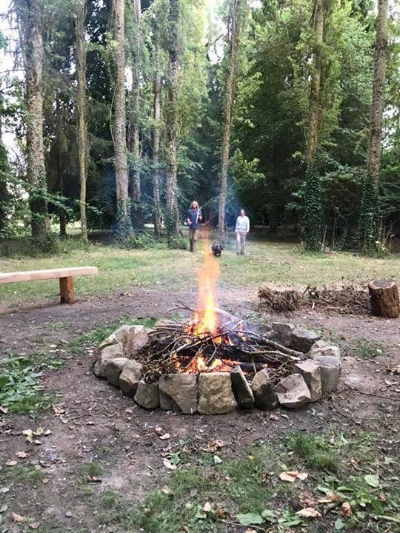 The psychic circle of trees feels like it was planted especially for ceremonies! The wise trees will surround us as we sing, chant and drum around the fire!