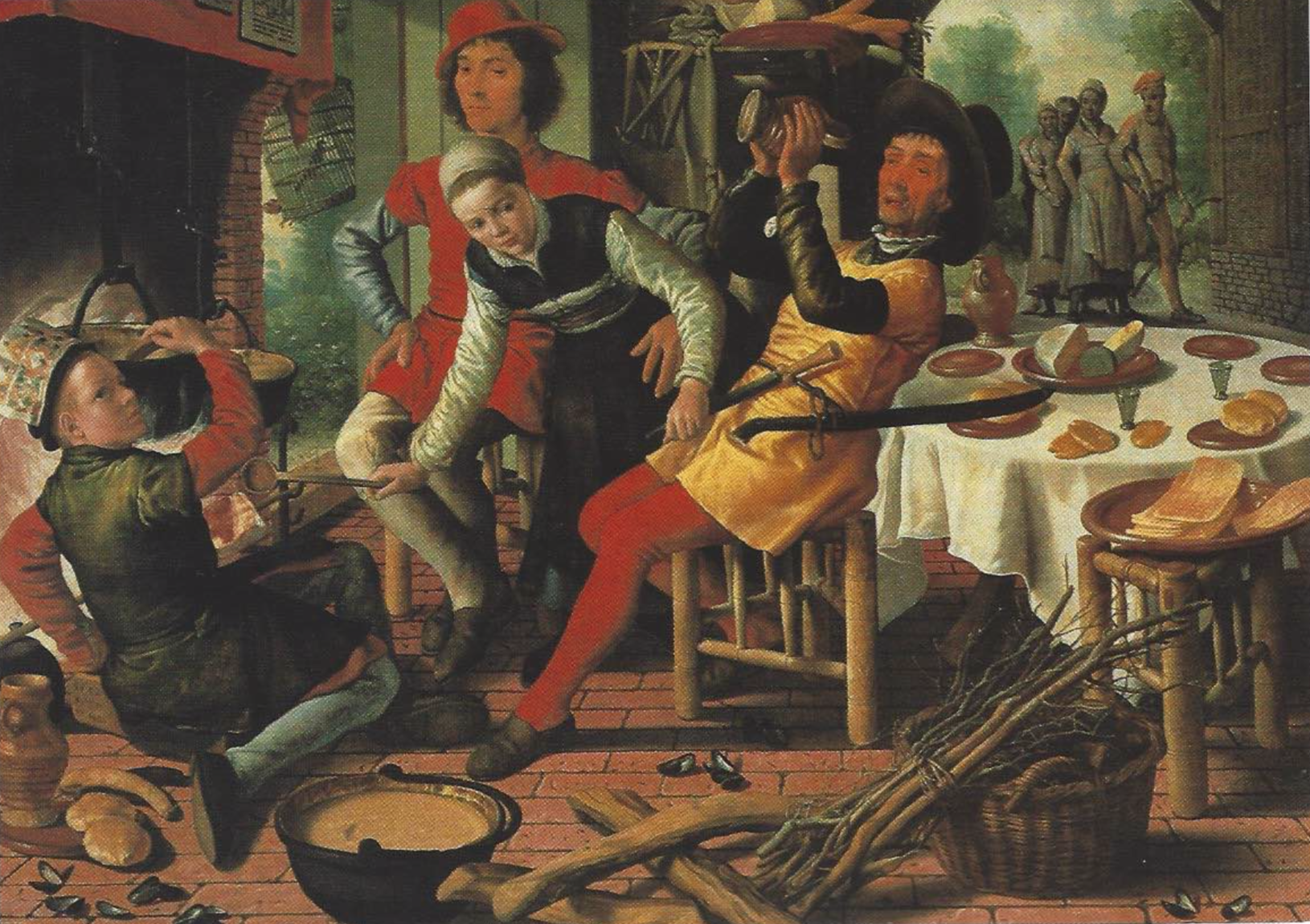 Pieter Aertsen - Boerengezelschap bij de haard