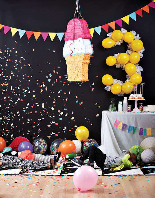 Prop styling for Today's Parent Birthday Hacks cover