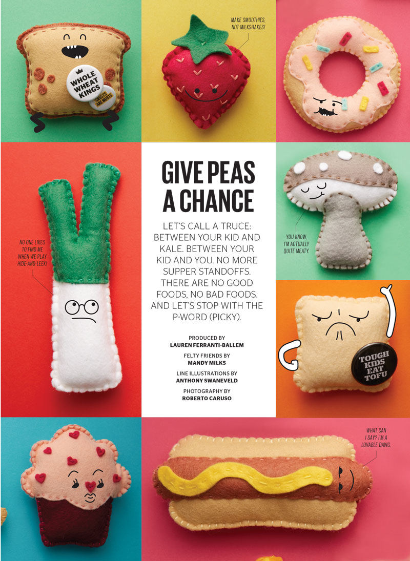 Felt food & art direction by Mandy Milks Photography by Roberto Caruso