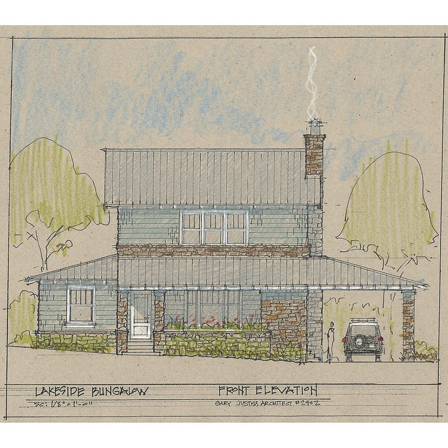 Take a look at this wonderful bungalow that our town architect @garyjustiss created. Be on the lookout for this plan and more coming to our website soon. #GaryJustissArchitect #LakesideAlabama #SmithLake #Cullman #lakelife #architecture