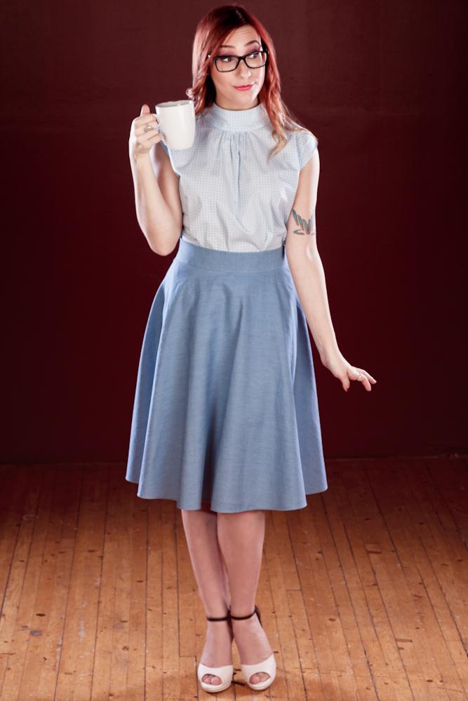 Beatrice Skirt $114, denim option