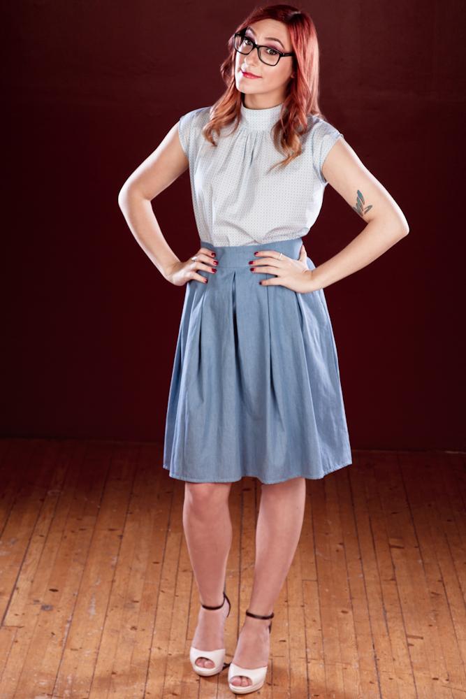 Sansa Skirt $122, denim option