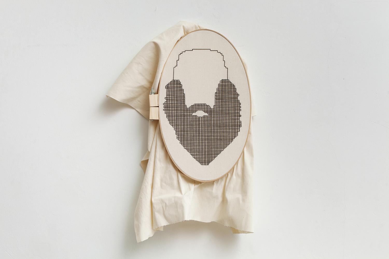 Linear    52x31 cm, linen fabric, embroidery  solo exhibition, Roza Azora Gallery Moscow, October 2014  © lisa olshanskaya