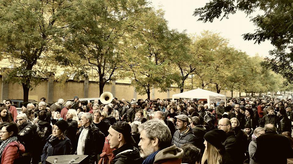 ex caserma Montello, Milano, 1 novembre 2016