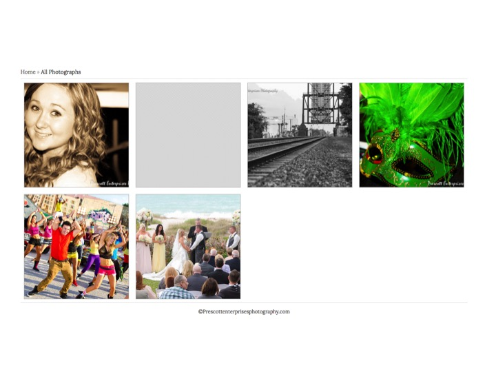 2. Locate your gallery by clicking on the category (people, weddings, sports & fitness or special events):