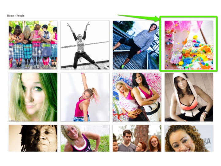3.Find your personal online gallery and click it to enter: