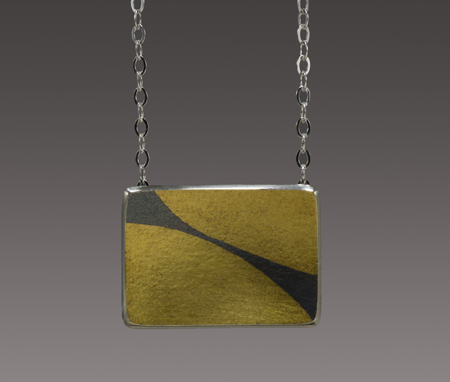 Encounter Necklace  sterling silver, gold