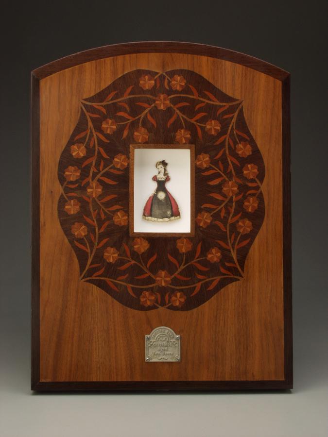 Figure Five - Girlchild Aged Ten Years $4,500  lithograph print, acrylic, linen, wood, magnesium 20.5 x 15 x 2