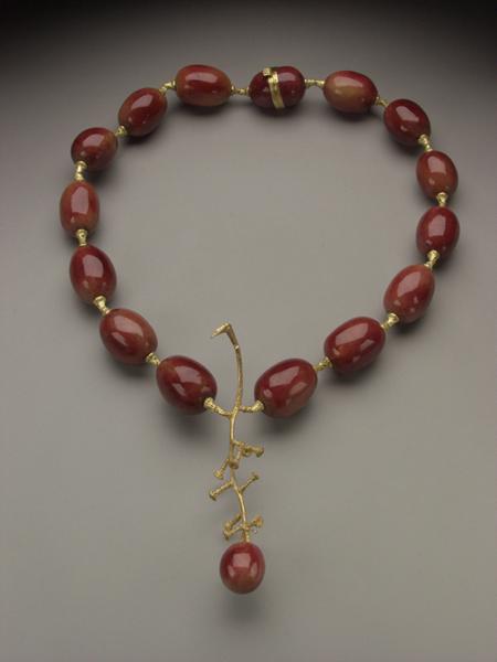 Grape Necklace  necklace, enamel, gold