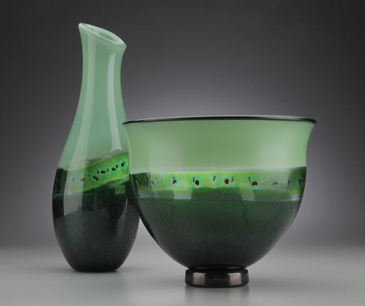 Green Aventurine Pair $245 each  glass