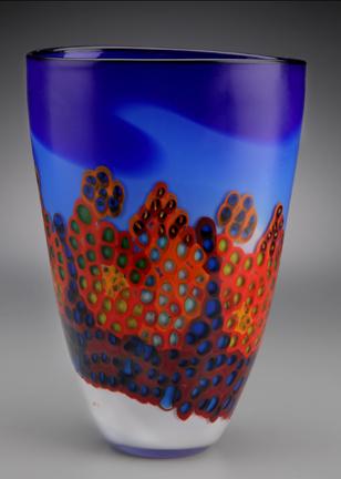 Landscape Vase $570  glass
