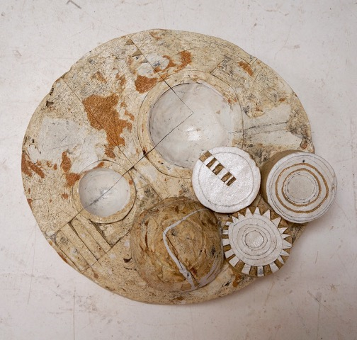 Surface I $300  found and reclaimed clays, kaolin, oxides, glazes 3.25 x 10.5 x 10