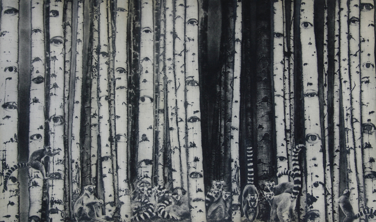 Hiding in the Woods  photogravure 28 x 27 $825