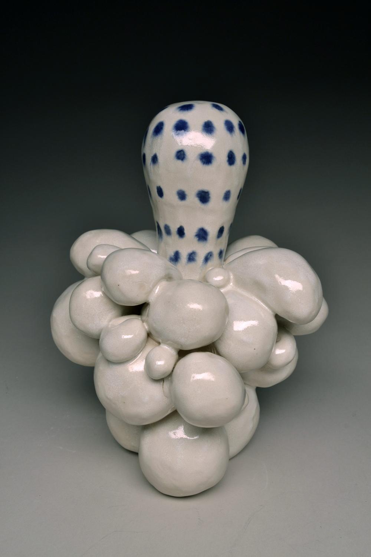 Polyp Blue  ceramic 9 x 7 x 7