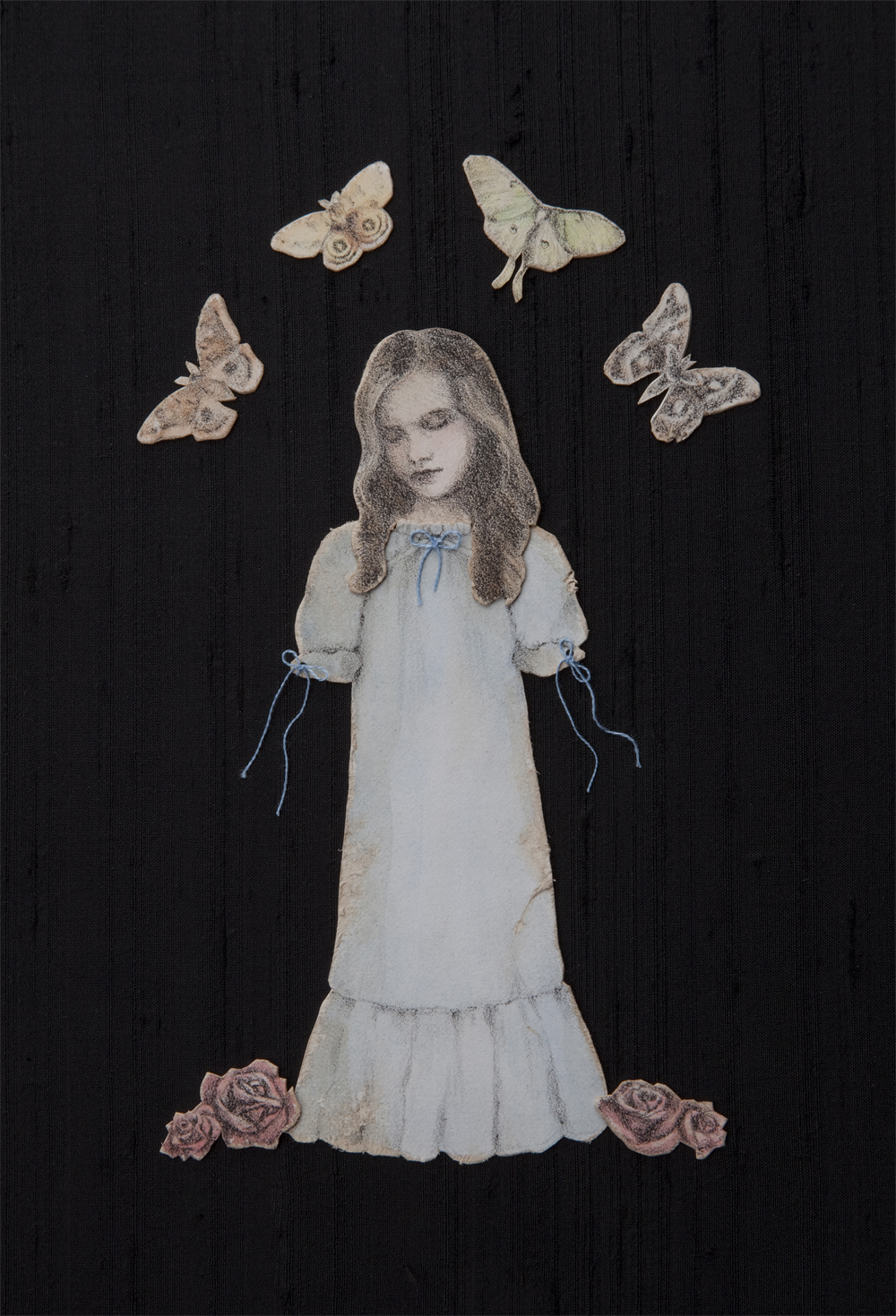 The Somnambulist $630  lithography, bristol paper, acrylic, cotton and silk