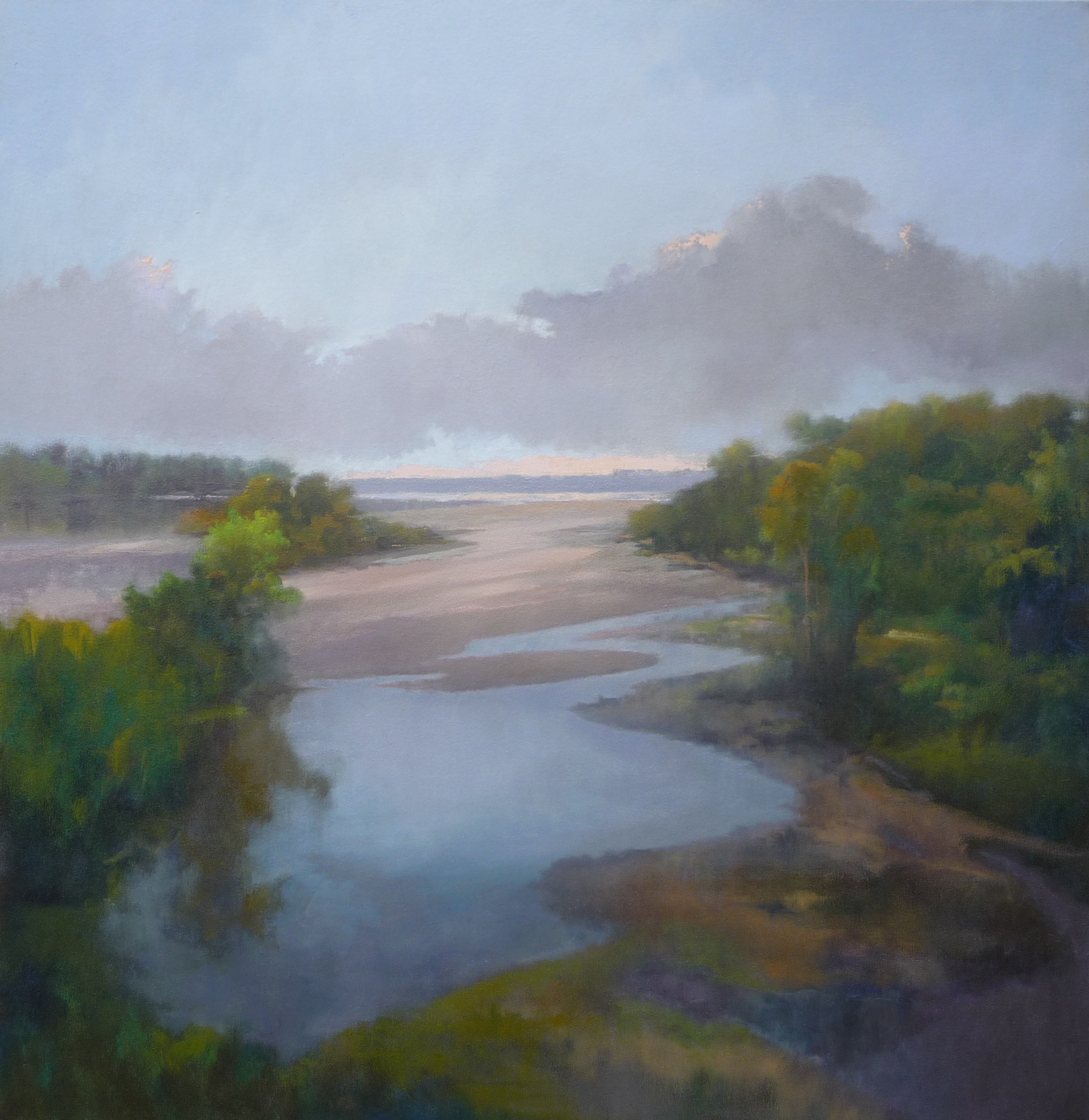 Sunrise on the Wisconsin River Boscobel