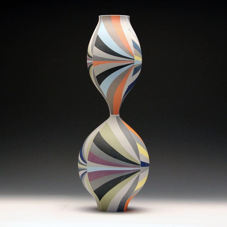 Vessel SOLD  porcelain 22.5 x 7.5 x 7.5