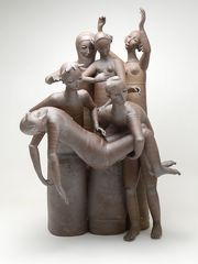"""Gerit Grimm's """"Entombment"""" (2017) at the Museum of Wisconsin Art in West Bend. Grimm's art fuses pottery and sculpture. (Photo: Courtesy of MOWA)"""