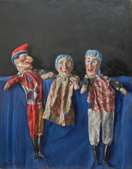 Family Portrait: Punch and Judy and The Baby