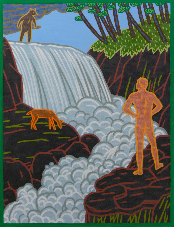 Black Bear Falls,  oil on canvas, 44 x 34