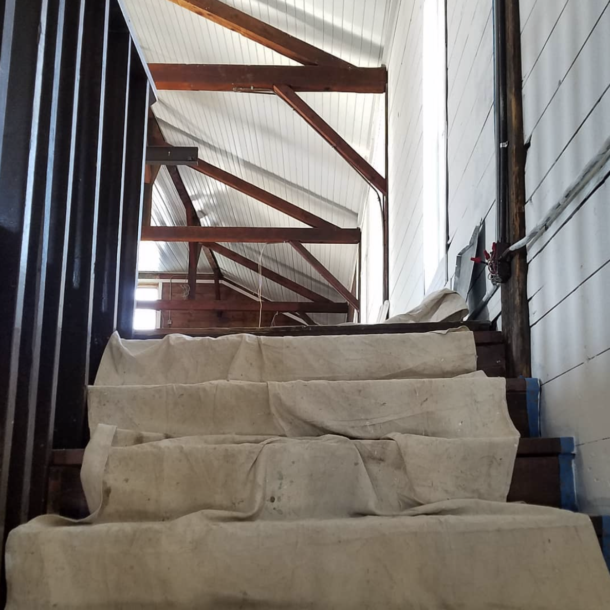 Stairs leading to the second floor gallery and #5 Gallery