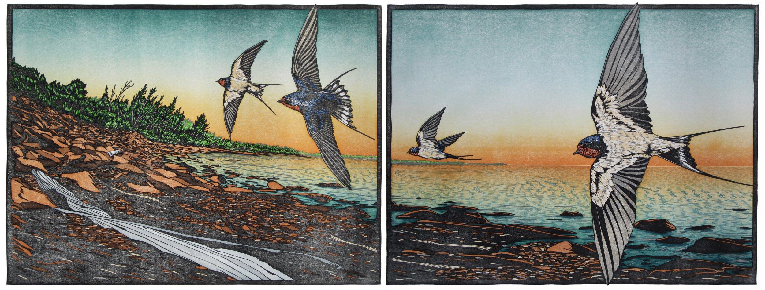 Nick Wroblewski - Draw of the Lake Diptych