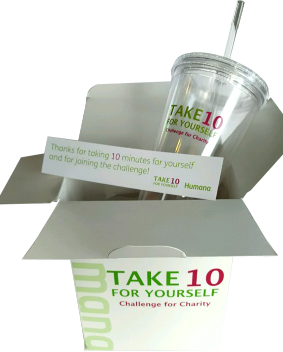 Humana Tumbler, Bookmark & Packaging