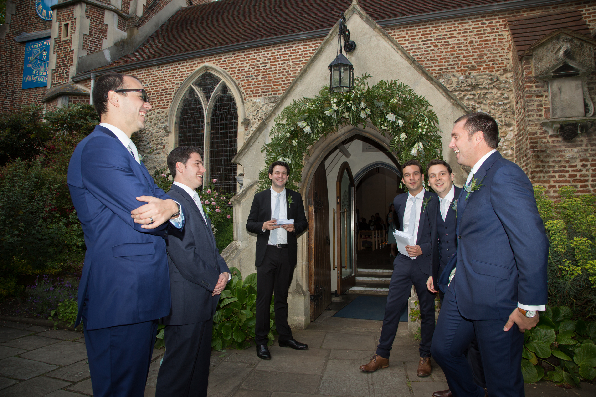 groomsmen-st-mary's-church-barnes-london-uk-destination-wedding-photography-Adam-Rowley