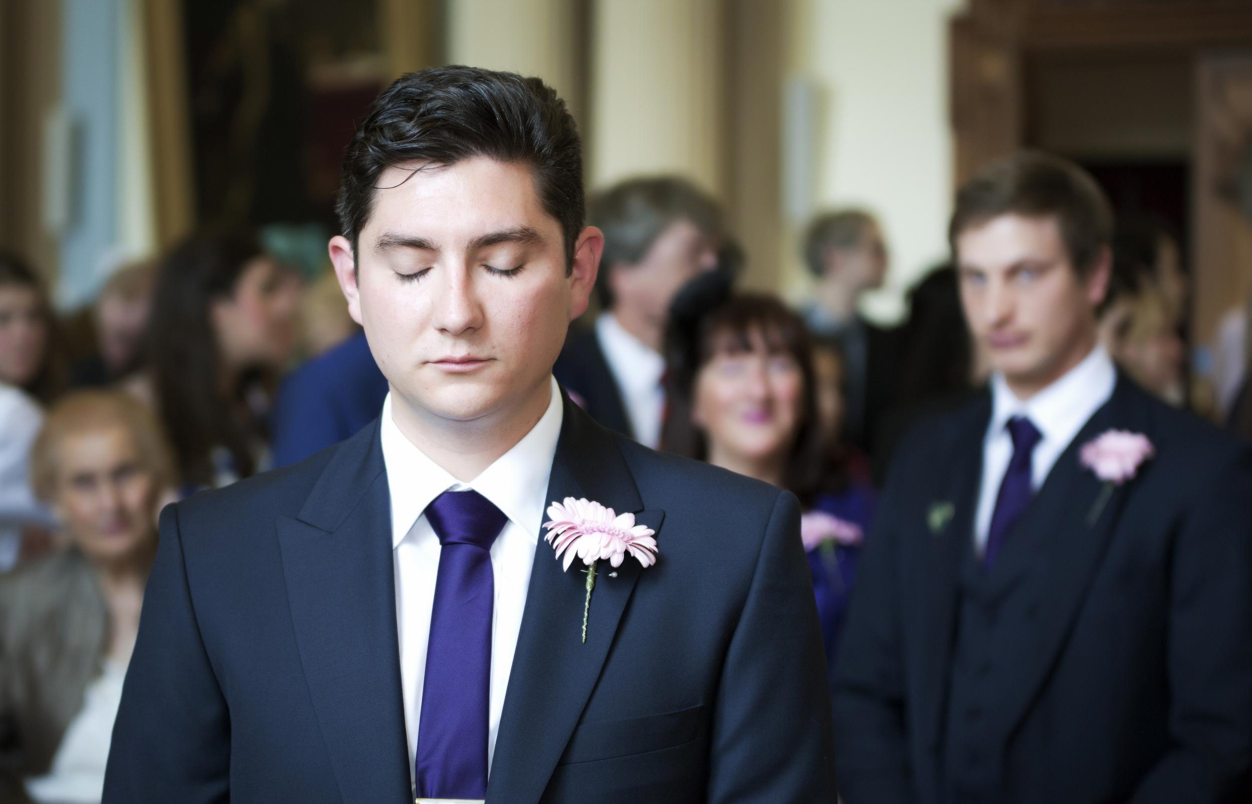 colchester wedding nervous groom
