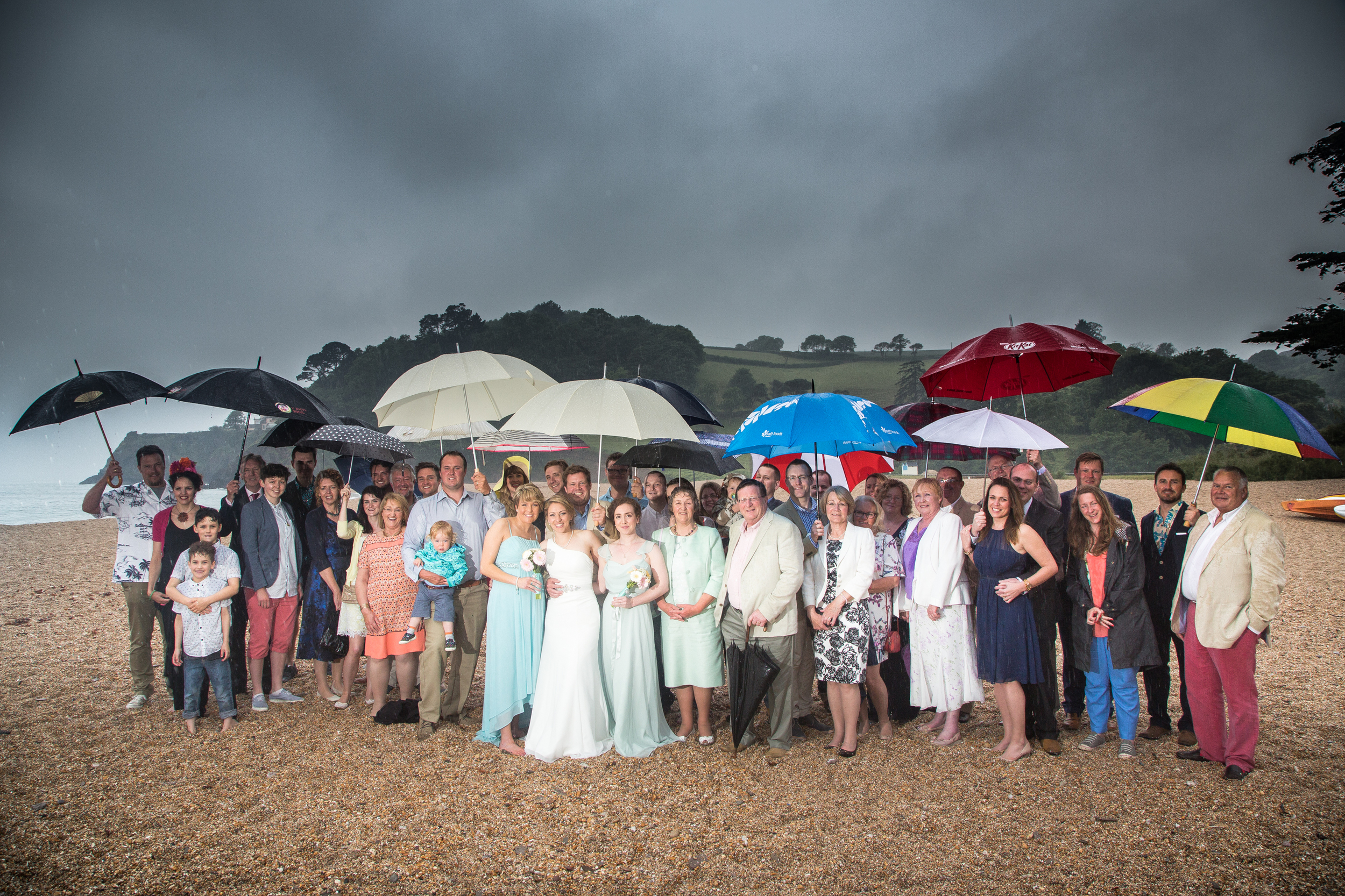 dartmouth wedding devon group shot formal 1