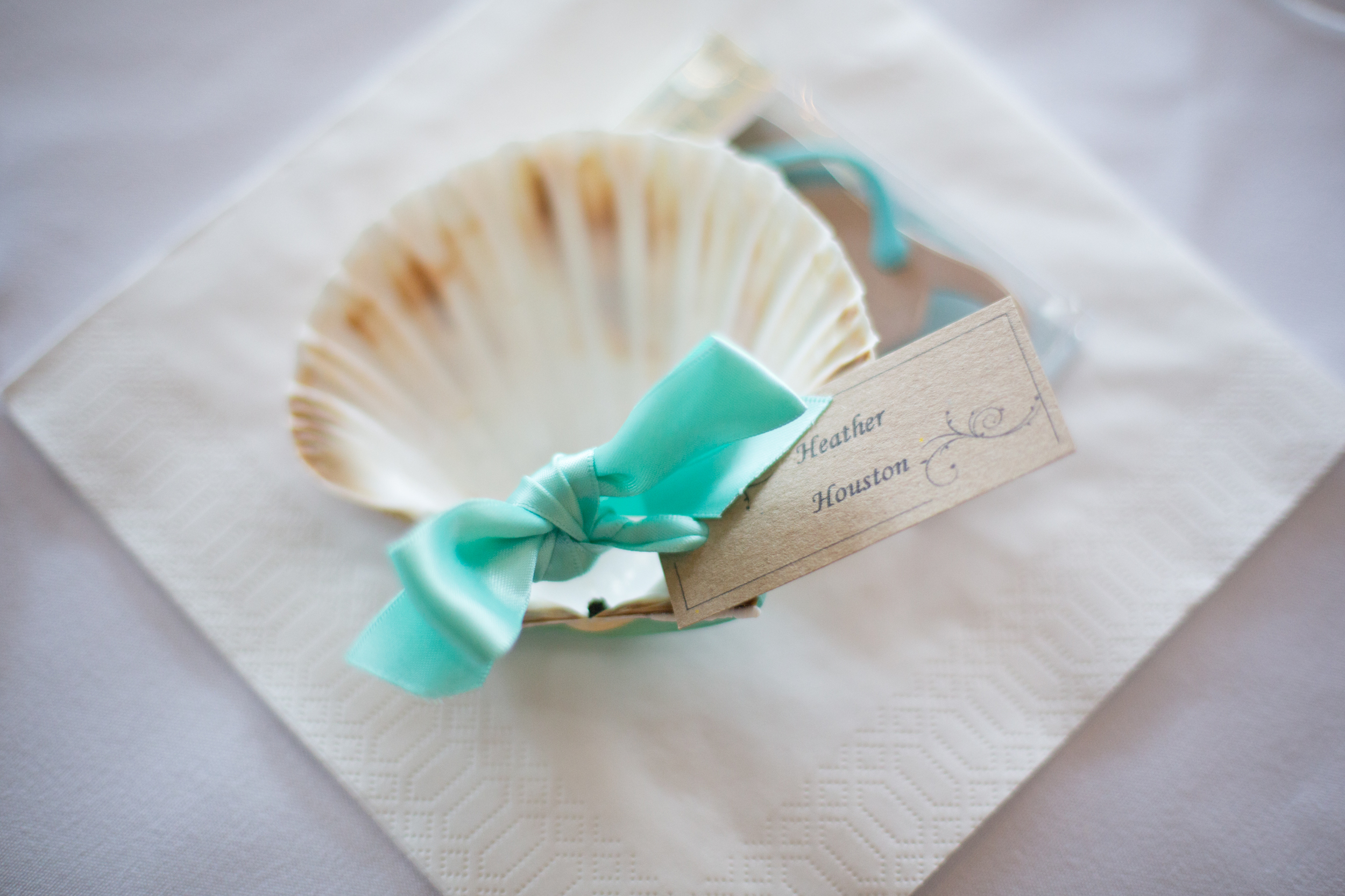 dartmouth wedding seashell wedding place mat