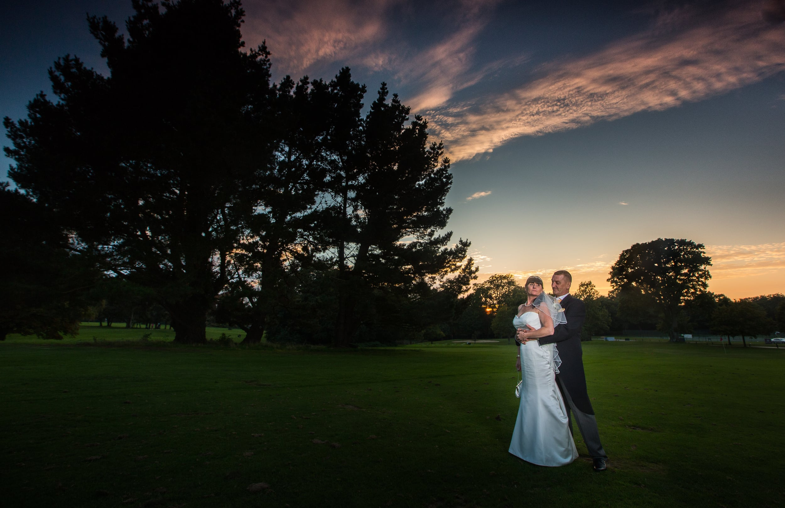 portsmouth wedding hampshire golf club sunset 2