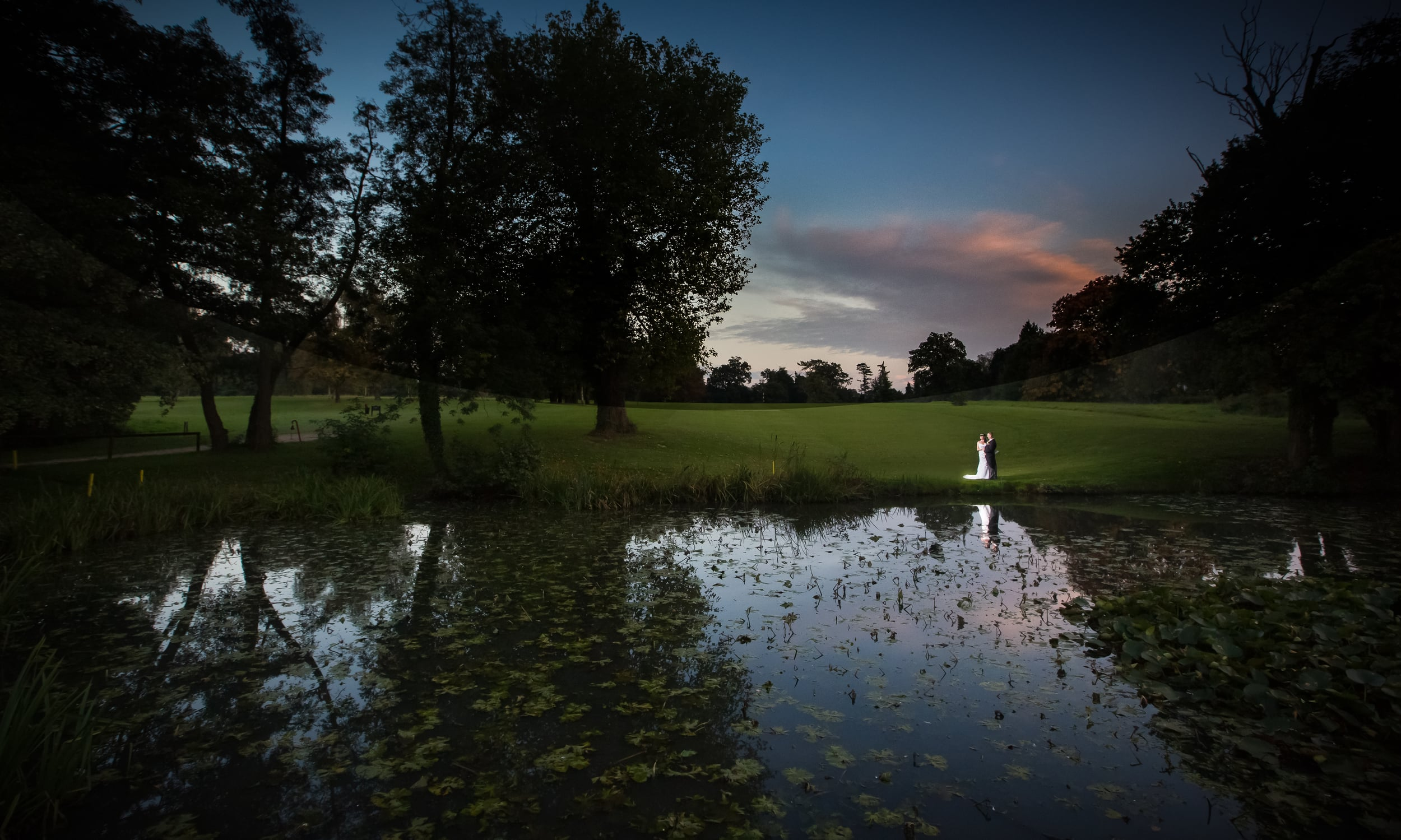 portsmouth wedding hampshire golf club sunset 3