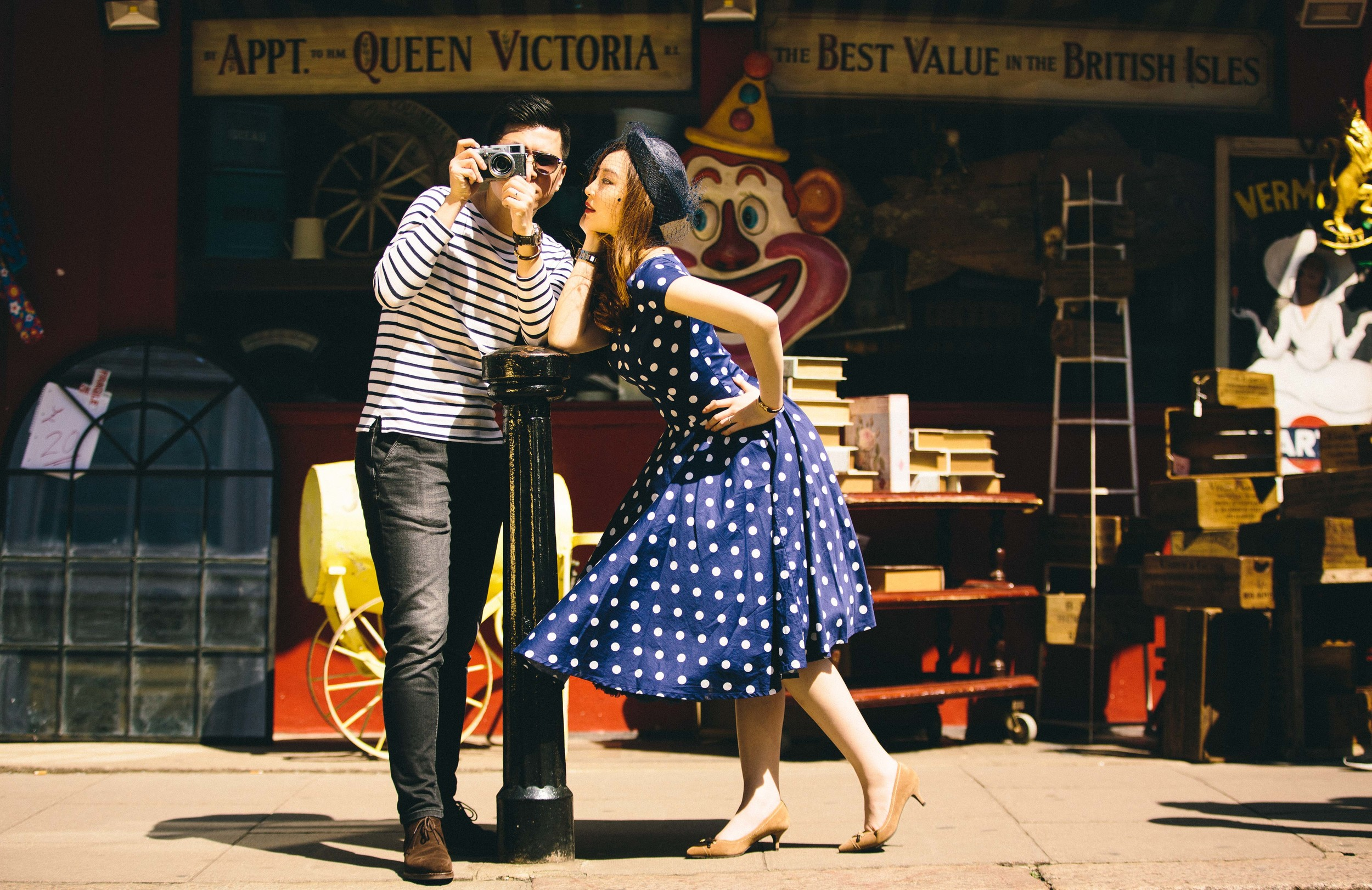 Asian-London-Vintage-Engagement-Wedding-Shoot-Notting-Hill-Regents-Park-9