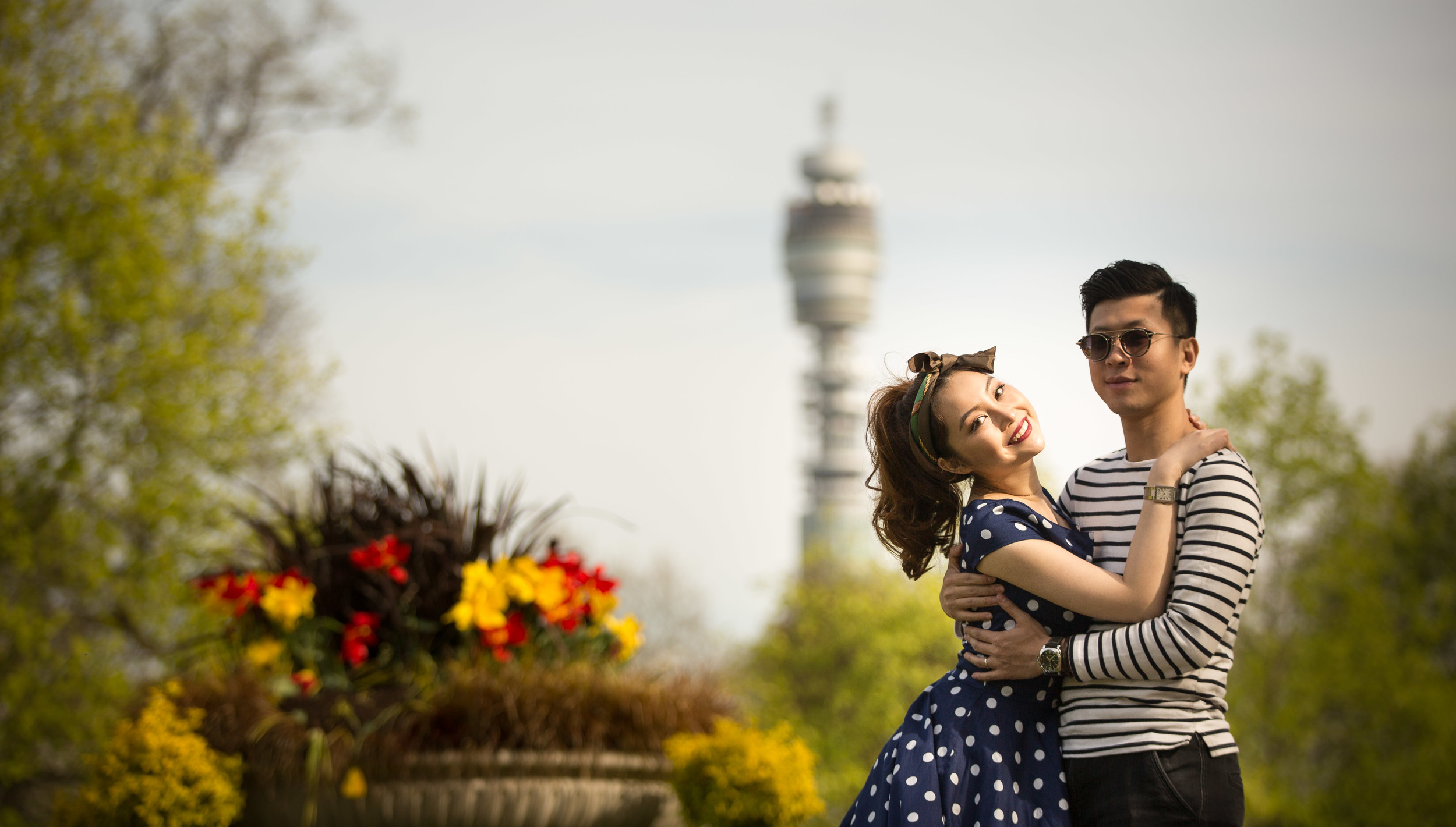 Asian-London-Vintage-Engagement-Wedding-Shoot-Notting-Hill-Regents-Park-19