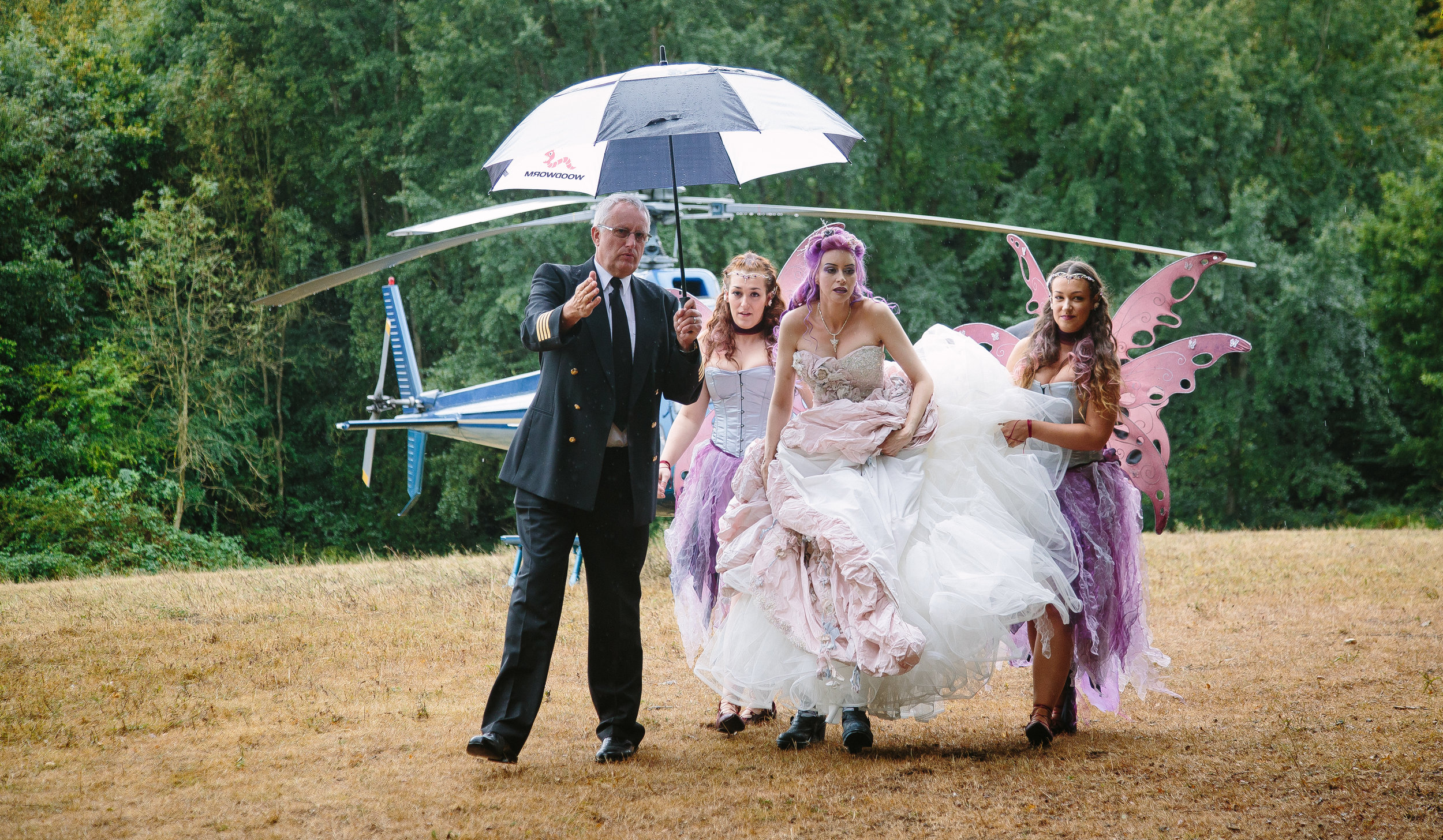 helicopter-bride-pilot-umbrella-essex-movie-theme-wedding-20
